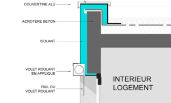 Rénovation énergétique copropriétés 1970 Aubervilliers détail isolant